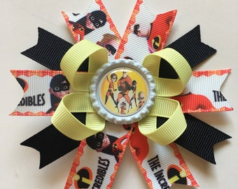 Incredibles Hairbow- The Incredibles Hairbows- Elastigirl Hairbows- Disney Bows- Incredibles Bows- The Incredibles Bows- Elastigirl Bow-