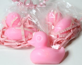 Ducks Soaps Favors------- Pink Rubber Duck Baby Shower Soaps/ Set of 30