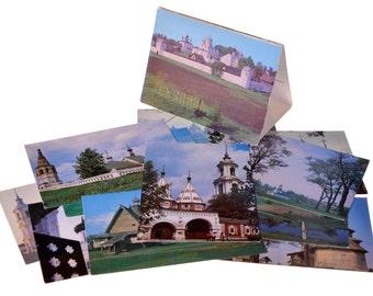 Lot 1, Quantity 12 Vintage Postcards Set Ussr Collection Suzdal Memorial Places 1983