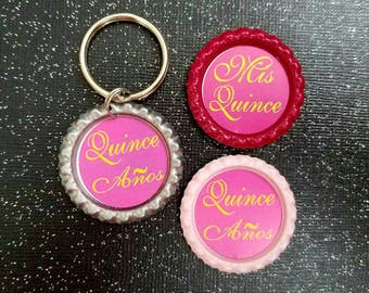 Quinceanera magnets and keychain