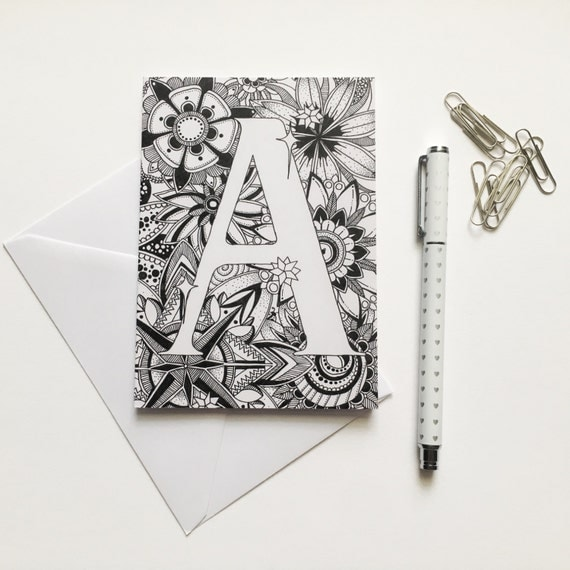 Zentangle Greeting Card Handmade Cards Zentangle Cards