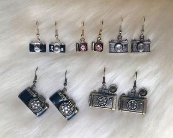 Vintage Camera Dangle Earrings