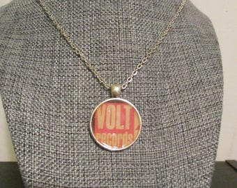 Recycled vinyl record sleeve necklace - vintage Volt Records!