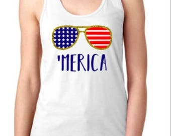 Merica Tank, 4th of july tank, memorial day tank
