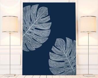 Silver Livingroom Decor, Female Bedroom Art, Silver Palm Leaf Art Print, Printable Palm Leaf Wall Decor, Decor Above Bed, Silver Printables