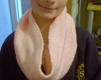 Palest baby pink snood