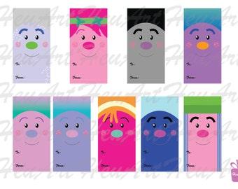 NEW Trolls Gift Tag,Trolls,Trolls clipart gift tag,Trolls clipart,cute gift tag,cute tag,digital gift tag,printables,trolls printables,party