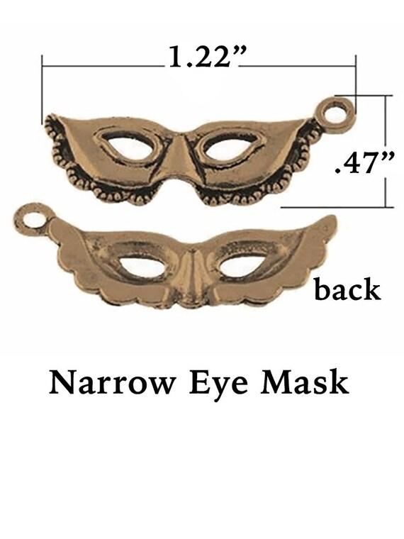 Masquerade Charms, Bronze Finish, 6 pcs  **FREE U.S. SHIPPING**