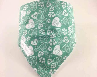 CLEARANCE-bandana bib - dog paws
