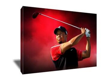 FREE SHIPPING Golf Legend Tiger Woods Canvas Art
