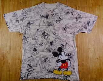 20% Off Vintage RARE Mickey Mouse Full Printed Shirt Walt Disney World By Hanes
