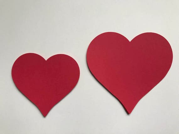 Red Heart Die Cuts