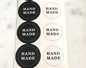 "40 PCS ""Handmade"" Craft paper sticker, Seals, Scrapbooking, Scrapbook Supplies, Stationary, Paper, Paper Stickers, Stickers"