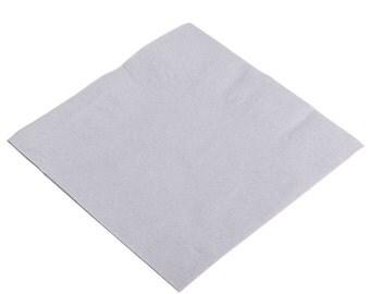 50-100 Silver/Gray Beverage Disposable Napkin, Wedding Napkins, Beverage Napkins, Wedding, Party, Wedding Supplies, Party Supplies