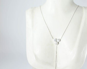 Dots Sterling Silver Chain Necklace