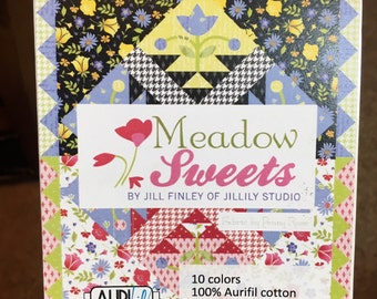 SALE - Aurifil Meadow Sweets Designer Thread Set - By Jill Finley of Jillily Studio - 10 Spools of 50 wt Cotton Mako Thread - 220 Yds Each