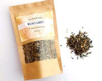 Cold and Flu Herbal Tea - Echinacea - elderflower - lemon myrtle - Organic Herbs - FREE SHIPPING
