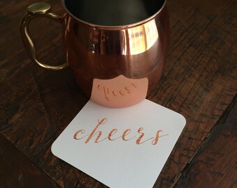 Cheers Paper Coasters (set of 24)