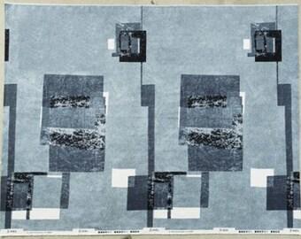 KOKKA 3 MIN. WALL black 100% cotton fabric- 50cm