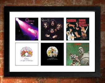 QUEEN Vinyl Albums Limited Edition Unframed Art Print