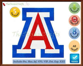 ARIZONA Wildcats EMBROIDERY DESIGNS Pes, Hus, Jef, Dst, Exp, Vp3, Xxx, Vip