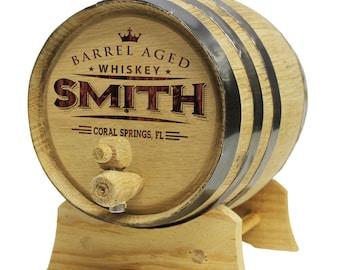 Personalized Whiskey Barrel - Oak Barrel - Groomsmen Gift Father's Day Gift - Engraved Whiskey Barrel - Wine Barrel Mini Barrel- Wood Barrel