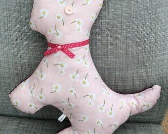 Dog shaped cushion