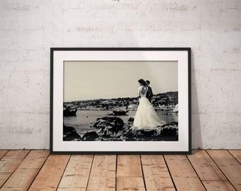 Gotham Instagram Filter Framed Fine Art Print Anniversary Print Wedding Fine Art Print Giclee Print Custom Wedding Print Artistic Print