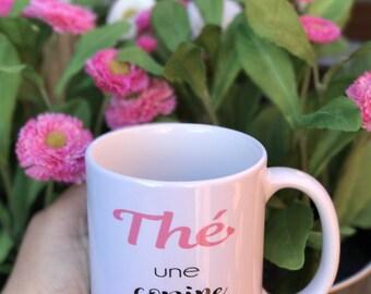 "MUG ""The too great girlfriend"" girlfriend gift for tea"