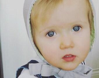 Baby Winter Bonnet, Baby Pilot Hat, Baby Boy Pilot Hat, Baby Girl Pilot Hat, Baby Hat with Ties