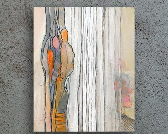 Acrylic Painting Abstract, Small Painting, Woman Painting, Acrylic Painting On Canvas, Original Painting Abstract, Gray Painting, Wall Art