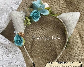 Cat ears, Hairband Ears of The Cat, kitty ear, Headband Ears, Ears for child, Ears headband, hoop, parties