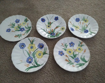 20% off Handpainted Red Wing and Blue Ridge Pottery Lot of 7 Plates / Saucer / Dishwares