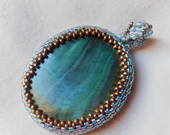 mother-of-Pearl pendant and beads