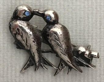 1930s Love Birds Brooch