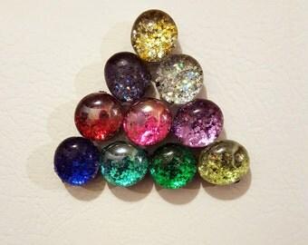Set of 10 Glitter Magnets