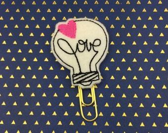 Love Bulb Planner Clip