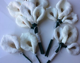Crochet calla lily bouquet package