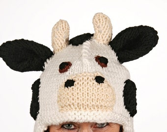 Mützentier - UNIQUE - funny hat in the form of cow