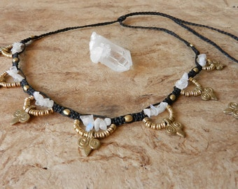 Tribal white Labrador Necklace
