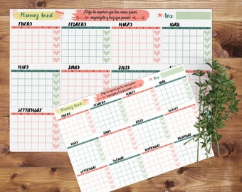 Downloadable annual planning to print