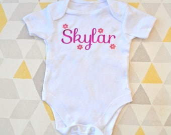 Personalised, baby vest, name vest, new baby, gift, baby girl, baby boy,
