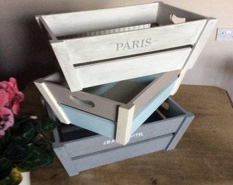 Wooden Storage Gift Display Crate