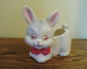 Vintage Bunny flower pot