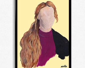 Eva + Jonas   Skam    Digital painting print (more to come)