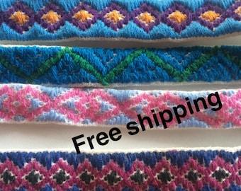 friendship bracelet set / bracelet woven / loom-woven bracelets / Maya handcrafts  / Mexican friendship bracelets / San Valentines / Chiapas