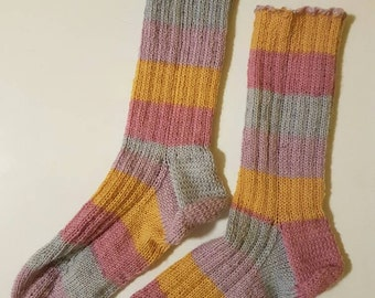 Socks, Easter striped classic ribbed