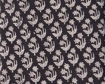 5 yards  Bagru print Fabric,Indian Fabric,Dabu Print Fabric, Cotton Printed Fabric, Printed Fabric, Block Print Fabric Hand made #030