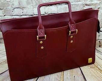 AIRWAY Expandable Briefcase Cordovan 1980's Vintage