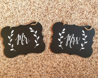 Mr. and Mrs. Seat Labels